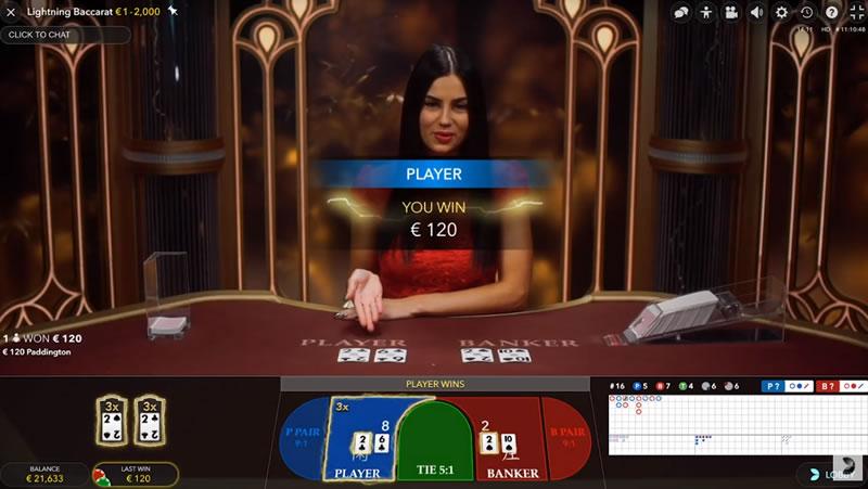カジノのライブバカラ
